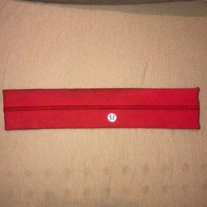 Red Lululemon Headband